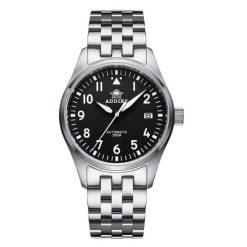 Addiesdive H2, Flieger, Schwarz, Edelstahl Armband