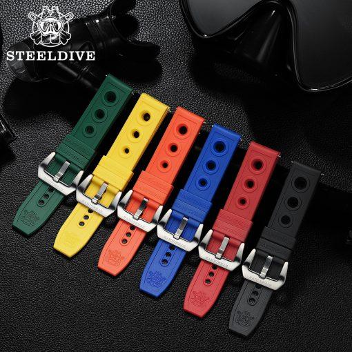 Steeldive Rubber Uhrenarmbänder 20/22mm