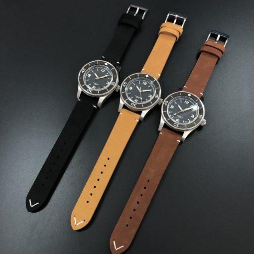 Steeldive Leder Uhrenarmbänder 20mm