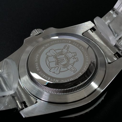 Steeldive 1954P Oman Schwarz Edelstahl Armband