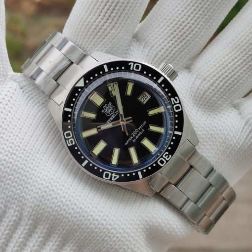 Steeldive 1962 Schwarz Edelstahl Armband