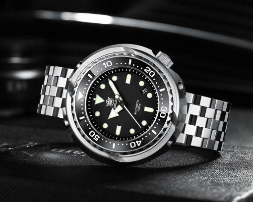 Steeldive 1978 Taucheruhr Schwarz 5-Link Armband