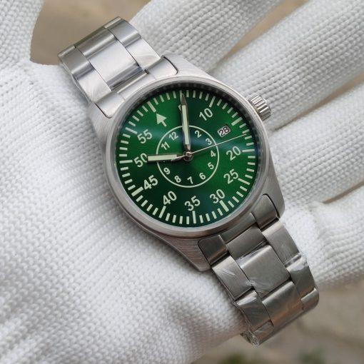 Steeldive 1940T Grün mit Edelstahlarmband