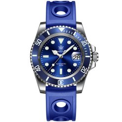 Steeldive 1953 Blau Rubber Armband